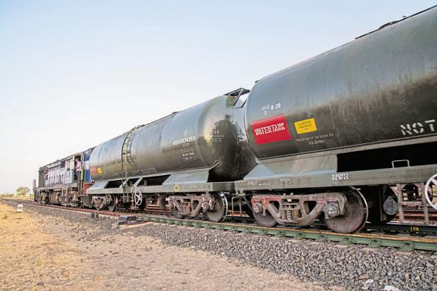 A file photo of a train carrying water to drought-hit Latur. Photo: Aniruddha Chowdhury/Mint