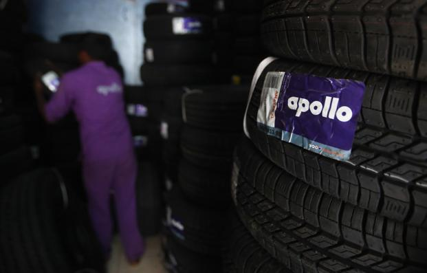 Apollo Tyres' 4% dip in stand-alone revenue was mainly due to weak demand in the replacement market. Photo: Reuters