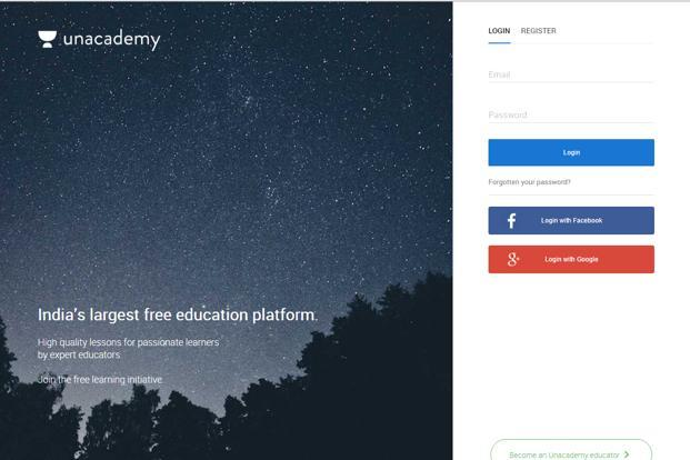 Unacademy competes with companies such as Khan Academy, Coursera, and EdX.