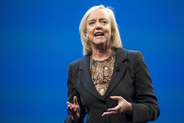 Meg Whitman, chief executive officer of Hewlett-Packard Co., speaks during the HP Discover conference in Las Vegas. Photo: David Paul Morris/Bloomberg