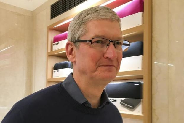 File photo. Tim Cook's first visit to India has been shrouded in secrecy with very little information about his plans. Photo: Reuters