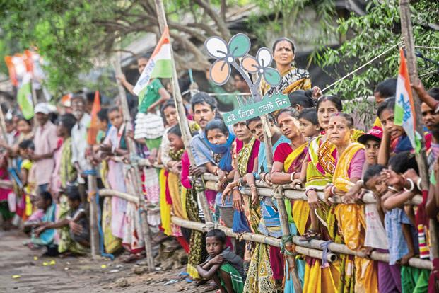 Supporters of Trinamool Congress in West Bengal. The regional parties are increasingly playing a greater role in passage of legislation at the national-level. Photo: Bloomberg