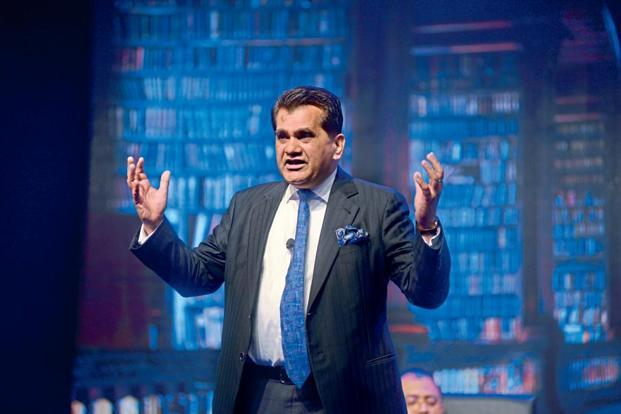 A file photo of Niti Aayog CEO Amitabh Kant who said India needs to innovate in every sector to make a quantum jump in our growth. Photo: Mint