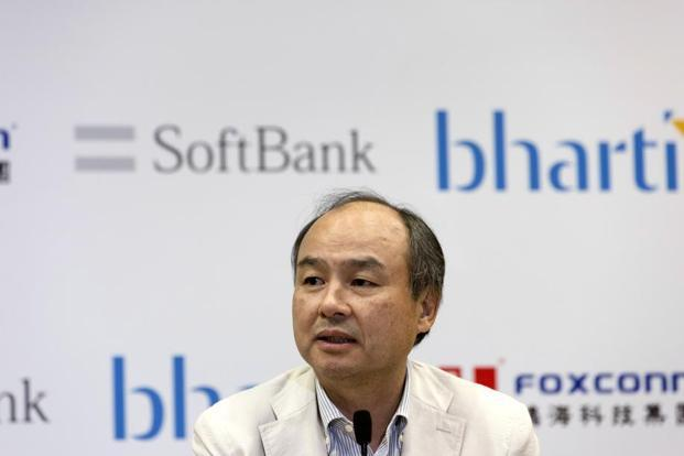 In June last year, SoftBank announced a joint venture with Bharti Enterprises and Taiwan's Foxconn Technology Group to generate 20 gigawatts of renewable energy. Photo: Bloomberg