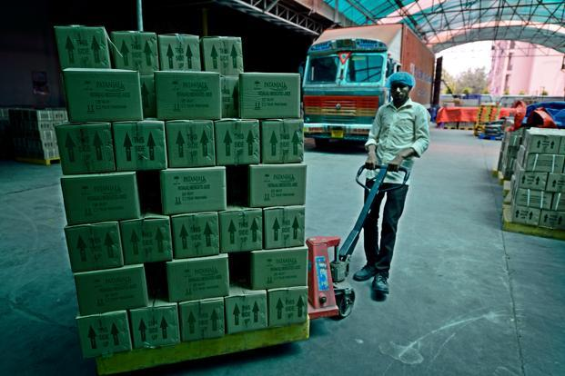 The Packaging and despatch centre at the Patanjali Ayurved plant in Haridwar.