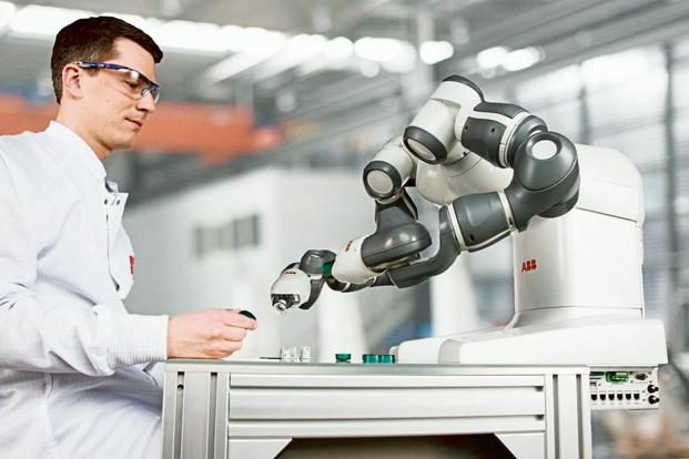 Switzerland-based power and automation group ABB's dual-arm concept robot, YuMi. Photo: ABB