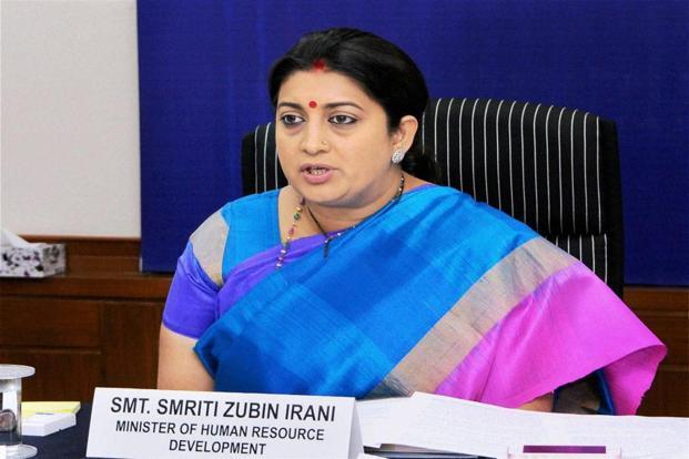 Smriti Irani said her ministry had promised the states a say in the new policy. Photo: PTI