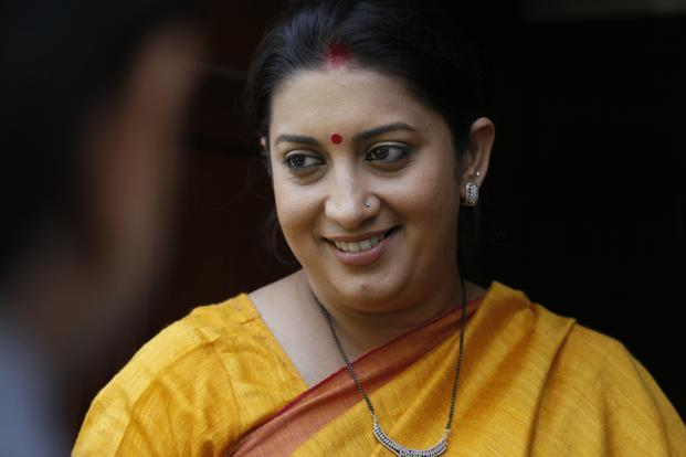 A file photo of Union human resource development minister Smriti Irani. Photo: Hindustan Times