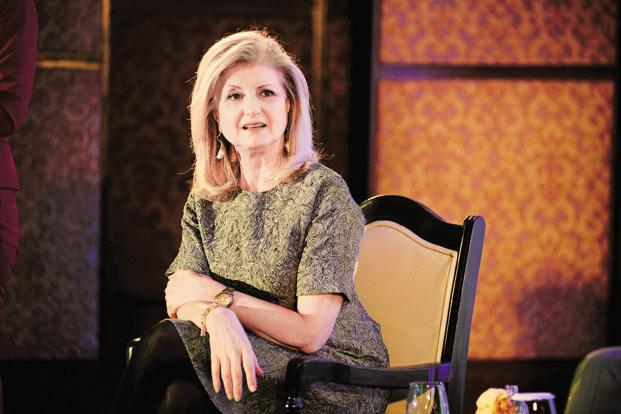 Arianna Huffington started the 'Huffington Post' in 2005. Her new venture Thrive is considering various business models, including advertising-supported content, conferences, and subscription-based wellness programmes aimed at companies. Photo: Pradeep Gaur/Mint