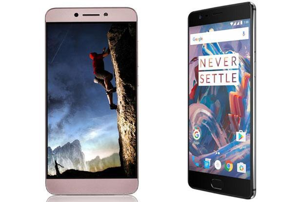 LeEco Le Max2 (right) is priced at Rs29,000 and the OnePlus 3, Rs27,999.
