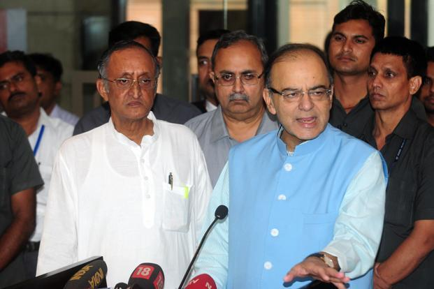 Union finance minister Arun Jaitley on Tuesday said most states are not in favour of setting the GST ceiling rate in the constitution amendment bill. Photo: Indranil Bhoumik/Mint