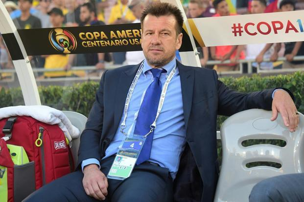 Brazil's coach Dunga was sacked two days after Brazil's national football team lost to Peru in a Copa America Centenario match and was left out of the tournament. Photo: Frederic J. Brown/AFP