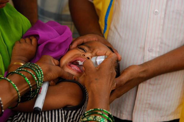 The polio eradication programme in India continues to protect children from the crippling disease by conducting two nationwide mass vaccination campaigns and two to three sub-national campaigns each year. Photo: Pradeep Gaur/Mint