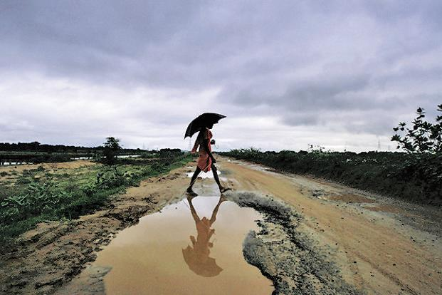 Given that the onset was late, we have so far only a week of data of the monsoon, which has stayed largely concentrated over Kerala. Photo: AP