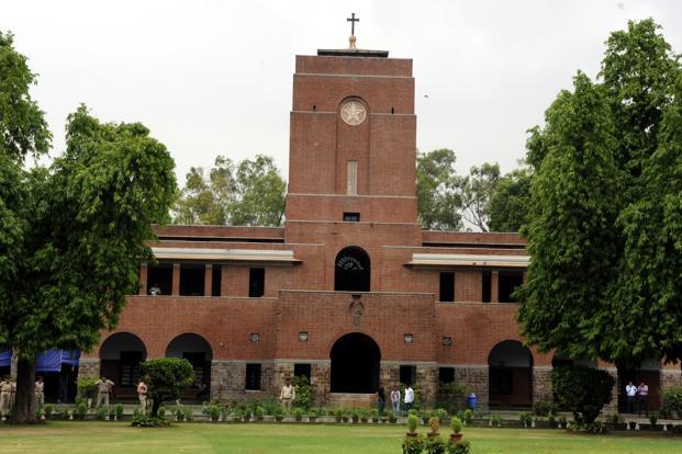 File photo.  St Stephen's offers honours courses in Economics, English, History, Philosophy, Sanskrit, Mathematics, Chemistry along with the Bachelor of Arts (BA) and Bachelor of Science (B.Sc) pass courses.  Photo: Sonu Mehta/HT