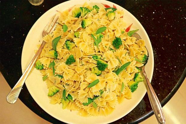 Farfalle with Gorgonzola and sage dressing. Photo: Samar Halarnkar