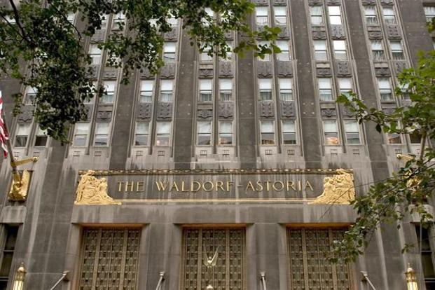 Anbang Insurance Group Co. bought the Waldorf Astoria, an Art Deco icon on Park Avenue, in February 2015 for $1.95 billion. Photo: Bloomberg