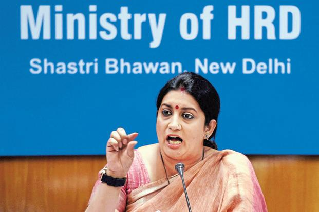 Union HRD minister Smriti Irani. Photo: PTI