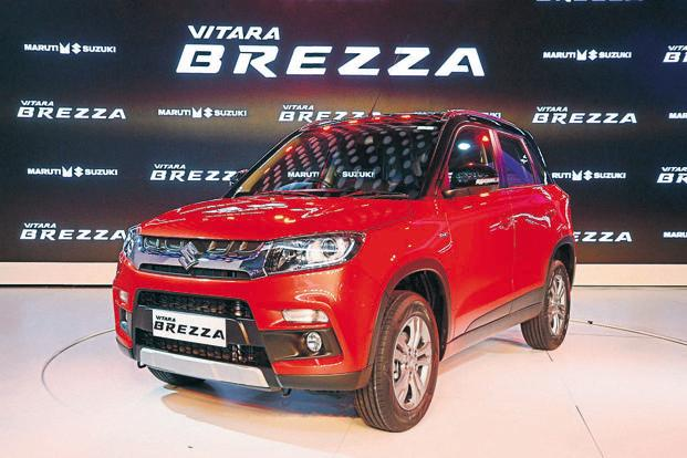 Maruti Suzuki has launched the Vitara Brezza in six colour options. Photo: Ramesh Pathania/Mint