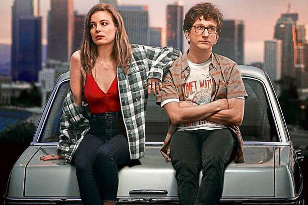 Love's lead pair Mickey (Gillian Jacobs) and Gus (Paul Rust).