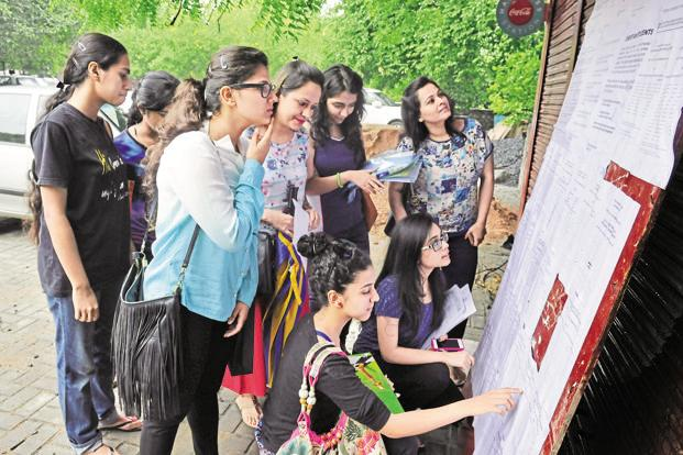 The process for admission to 54,000 seats in 63 DU colleges is underway.  Photo: Sushil Kumar/HT