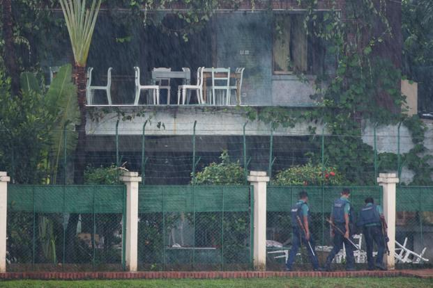 Islamic State has claimed responsibility for the killing of the hostages and two police officers during an 11-hour siege that ended on Saturday but the government has consistently denied that international jihadist groups are operating in Bangladesh. Photo: AFP