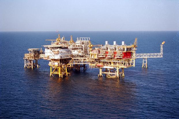 A file photo of an ONGC offshore platform. Photo: Bloomberg