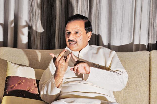 A file photo of minister of state for civil aviation Mahesh Sharma. Photo: Hindustan Times