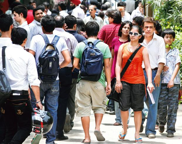 There has been a considerable drop in the percentages in the second list even as some colleges closed the enrolment to popular courses such as BCom and Economics Honours. Photo: Hindustan Times