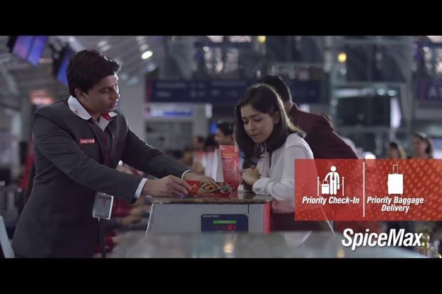 SpiceMax is a premium product that claims to offer six-inch extra leg room compared to standard seats in airlines, personal space to work or relax, as well as priority check-in at dedicated SpiceMax counters at major airports.