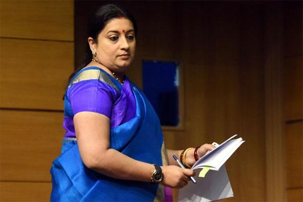 "Smriti Irani's ""aggression"" and ""controversies""—alter egos incidentally of glamour—could have been of good use to the textile ministry. Photo: Sonu Mehta/Hindustan Times"