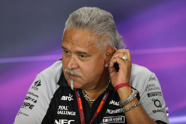 Force India team principal Vijay Mallya during a press conference at Silverstone, British Grand Prix, on Sunday. Photo: Reuters