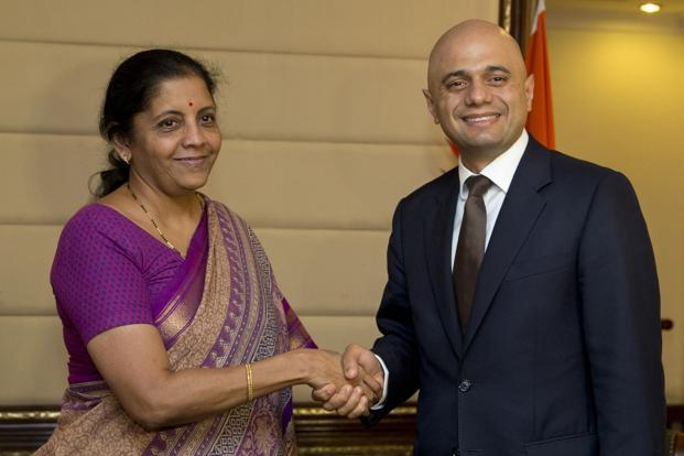 India britain to negotiate post brexit free trade agreement livemint commerce and industry minister nirmala sitharaman meets britains business secretary sajid javid in new delhi on platinumwayz