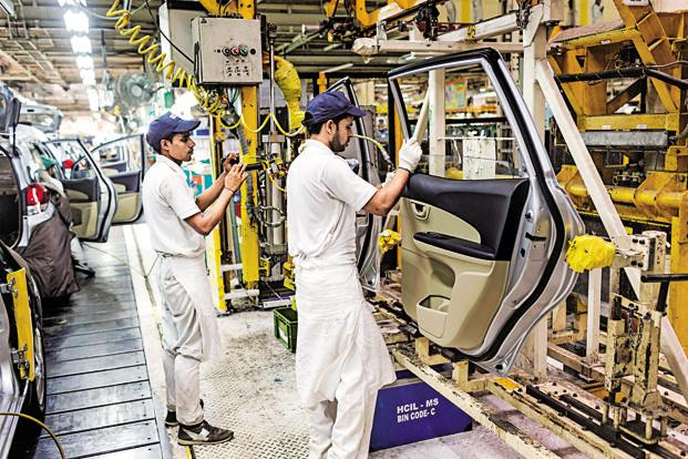 In 1989-90, the share of manufacturing in the gross domestic product was 16.4%; in 2015-16, its share was at 16.2%. Photo: Bloomberg