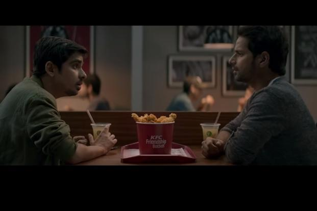 A still from the latest advertisement for KFC India. The ad has already been watched over 2.8 million times on social media website Facebook alone, since its launch last week.