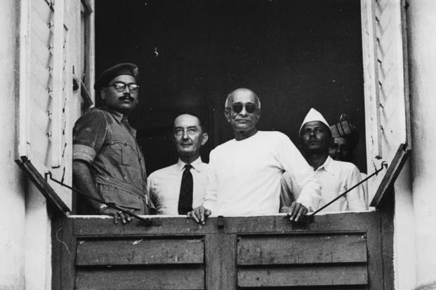 C. Rajagopalachari (second from right). Photo: Getty Images