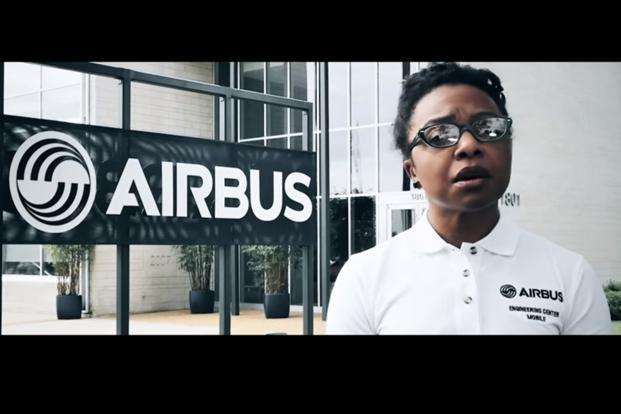 A still from the Airbus video for Boeing. The video which features Airbus employees at different establishments from across the world, talks about Boeing and the company gearing up to celebrate 100 years in the business.