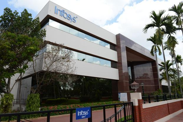 Infosys posted a poor start to the financial year, recording a dollar revenue growth of 2.2% in the April-June period and lowering its annual revenue growth target to at-best 12.3%. Photo: Hemant Mishra/Mint
