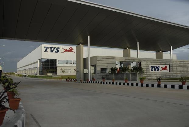 On Tueday, TVS Motor's shares fell 3.08% to <span class='WebRupee'>Rs.</span>291.40 on BSE, while the exchanges Sensex lost 0.42%. Photo: Hemant Mishra/Mint