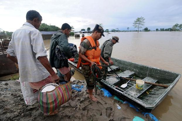 Regions in Assam and Meghalaya saw extremely heavy rainfall at the beginning of the week. Photo: AFP