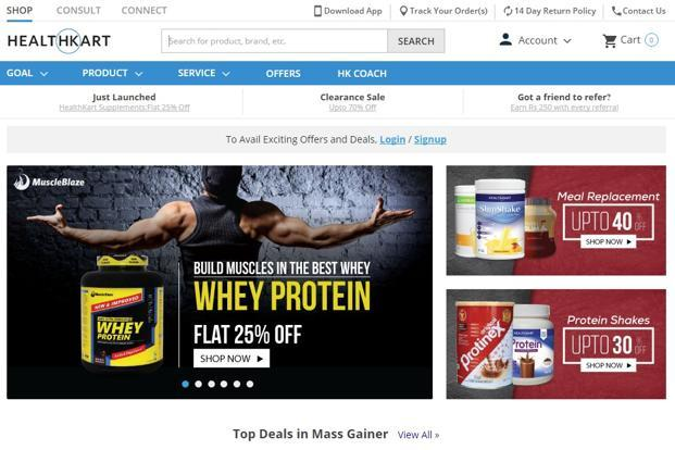 According to its website, Healthkart, which sells consumables such as protein supplements and vitamins, has more than 200 brands and authorized vendors on its platform.