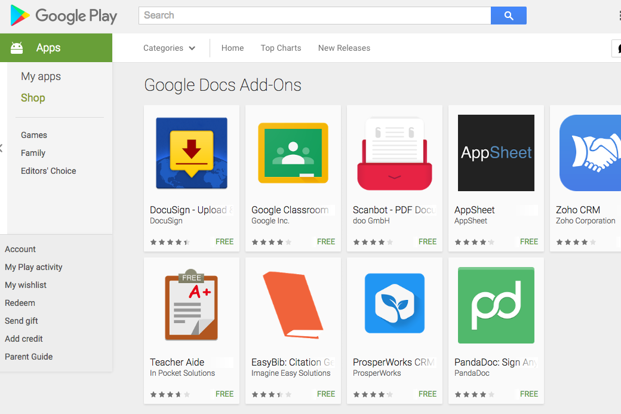 How It Works Google Addons For Docs And Sheets Apps For Android - Using google docs