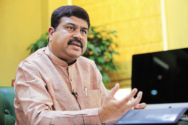 A file photo of oil minister Dharmendra Pradhan. Photo: Manoj Verma/Mint