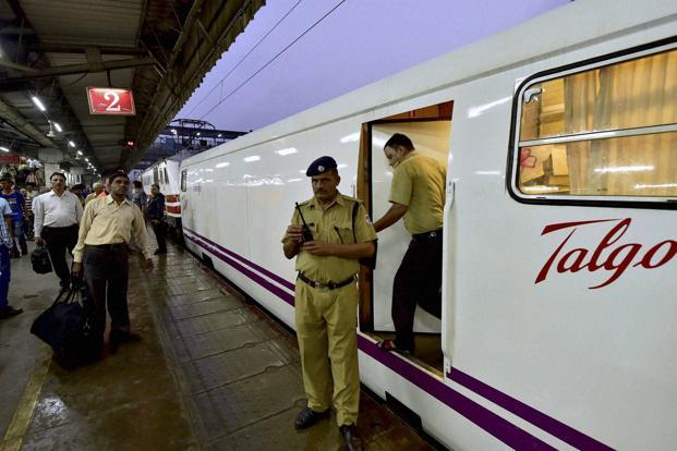 The semi-high-speed train was expected to complete the journey of 1,384 km in 12 hours and 35 minutes, and was scheduled to reach the metropolis at 8.31am.  Photo: PTI