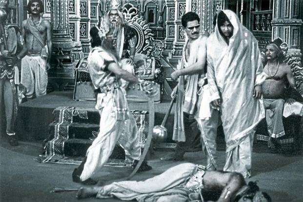 the mahabharat scene in jaane bhi do yaaro 1983