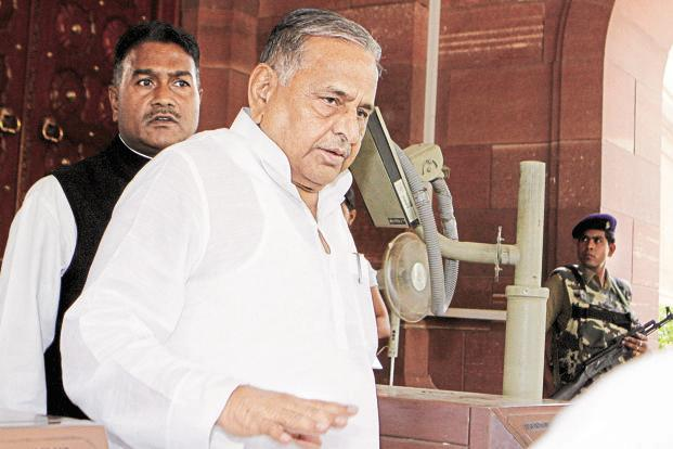 SP chief Mulayam Singh Yadav formed a team of 36 MLCs to carry out a survey across the 403 constituencies in Uttar Pradesh and submit a report on the potential of SP candidates in these seats. Photo: HT