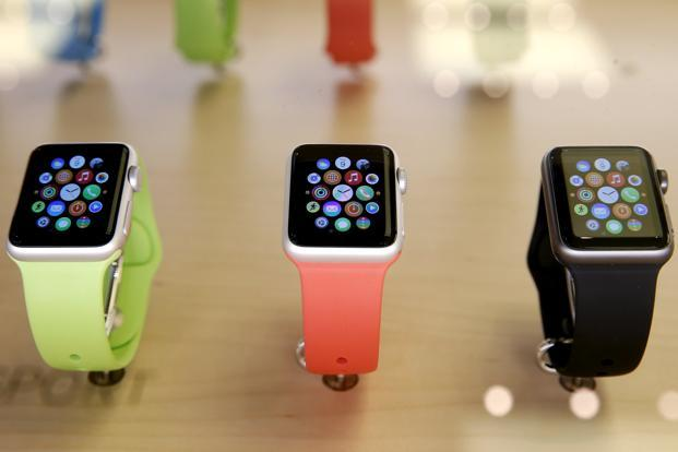 Apple watch bands do not feature in the iconic Olympic rings logo or the word Olympics. Photo: Reuters