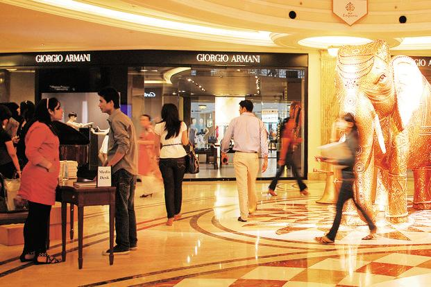 Rentals at premium malls rose in the first half of 2016, says property consultant CBRE South Asia. Photo: Priyanka Parashar/Mint