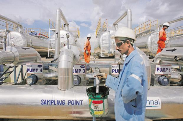 Under the PSC, Cairn gets 70% of crude from the well while the state-owned company gets 30%. Photo: Reuters