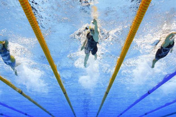 In the last 40 years, for every world record run by an athlete on track, swimmers turned in two in the pool, shows an analysis of 929 world records across 62 events in the two sports. Photo: AP